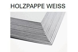 Holzpappe weiss